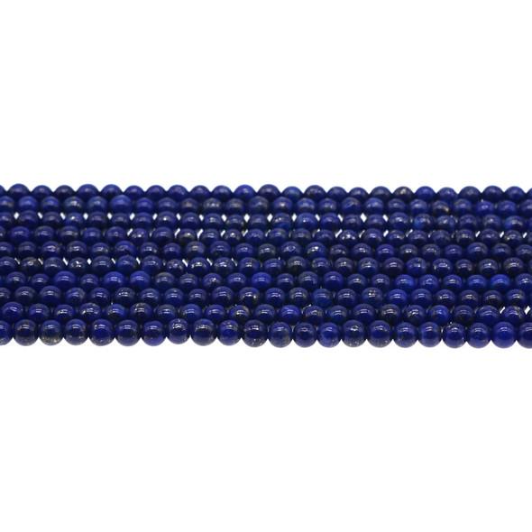 Natural Lapis AA Round 4mm - Loose Beads