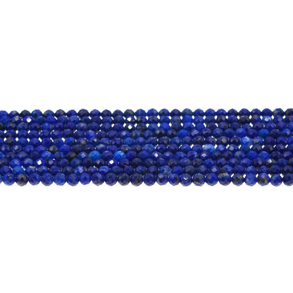 Natural Lapis Round Faceted Diamond Cut 4mm - Loose Beads