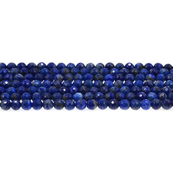 Natural Lapis AB Round Faceted Diamond Cut 6mm - Loose Beads