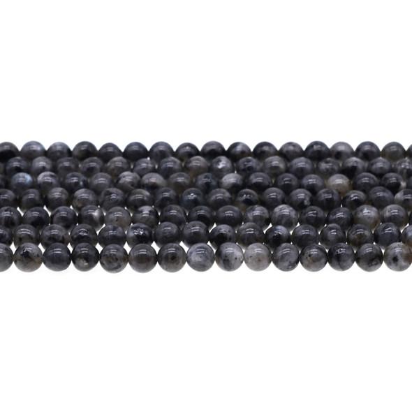 Larvikite Black Labradorite Round 6mm - Loose Beads