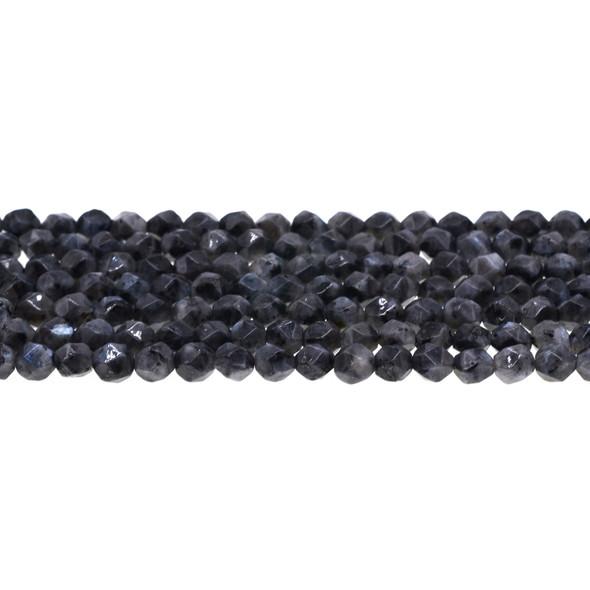 Larvikite Black Labradorite Round Large Cut 6mm - Loose Beads