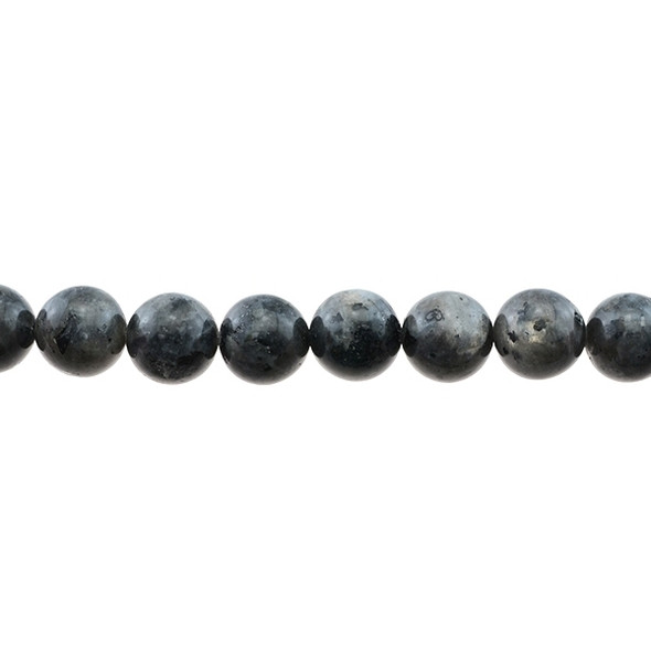 Larvikite Black Labradorite Round 12mm - Loose Beads