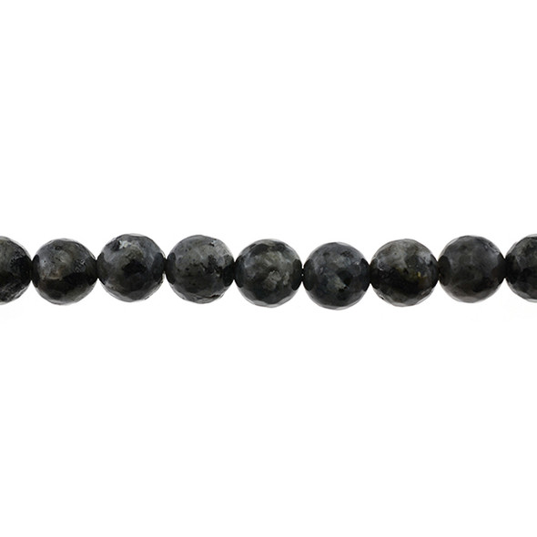 Larvikite Black Labradorite Round Faceted 12mm - Loose Beads