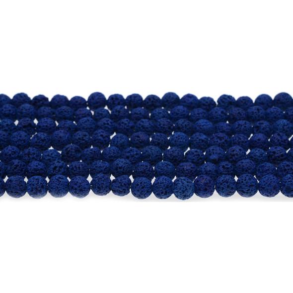 Blue Lava Round 6mm - Loose Beads
