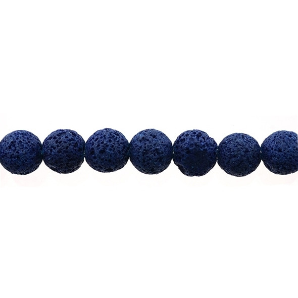 Blue Lava Round 12mm - Loose Beads