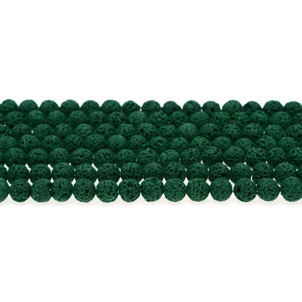 Green Lava Round 6mm - Loose Beads