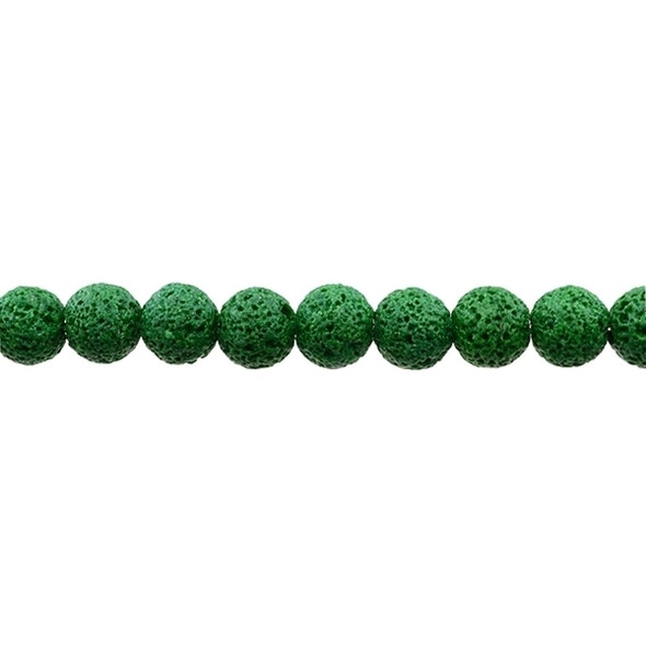 Green Lava Round 10mm - Loose Beads