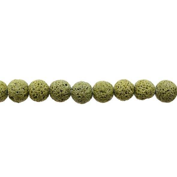Olivine Lava Round 10mm - Loose Beads