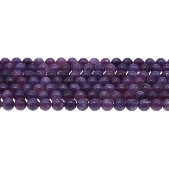 Lepidolite Round 6mm - Loose Beads