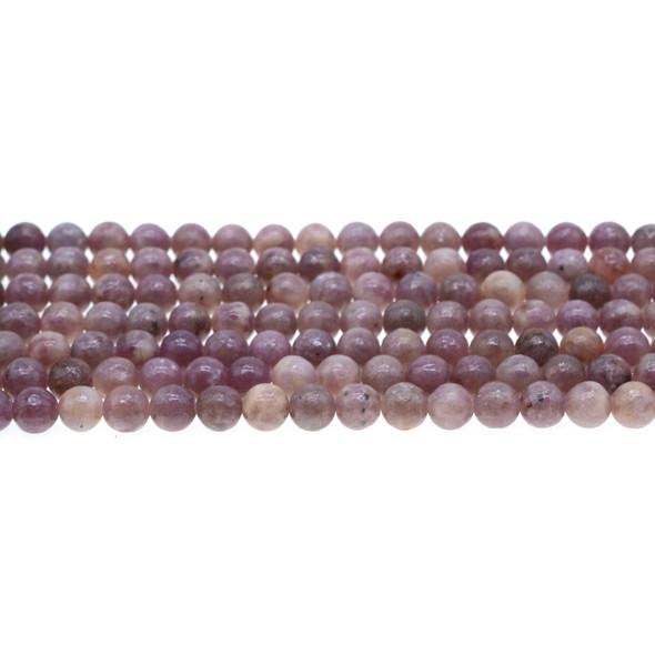 Lepidolite AB Round 6mm - Loose Beads
