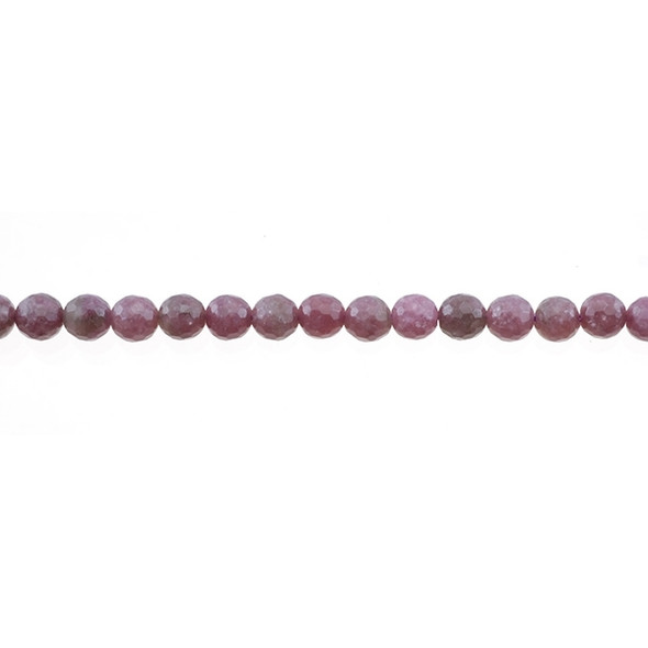 Lepidolite Round Faceted 6mm - Loose Beads