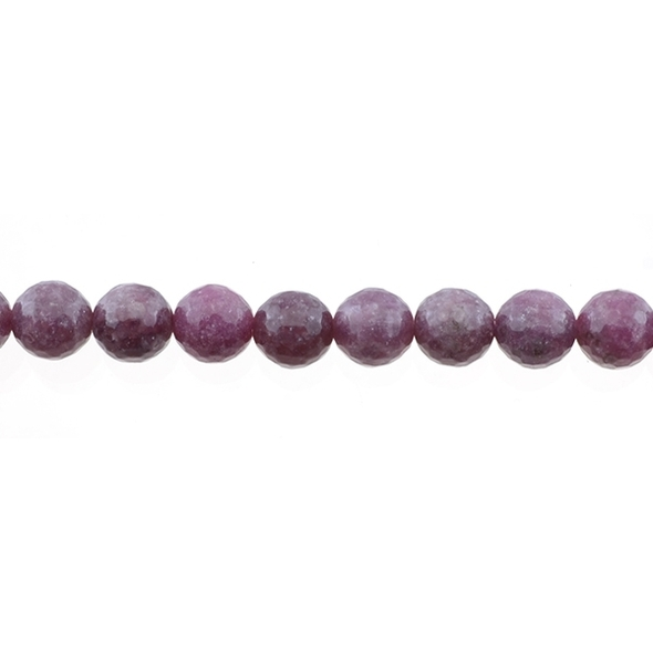 Lepidolite Round Faceted 10mm - Loose Beads