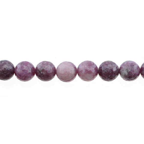 Lepidolite Round Faceted 12mm - Loose Beads