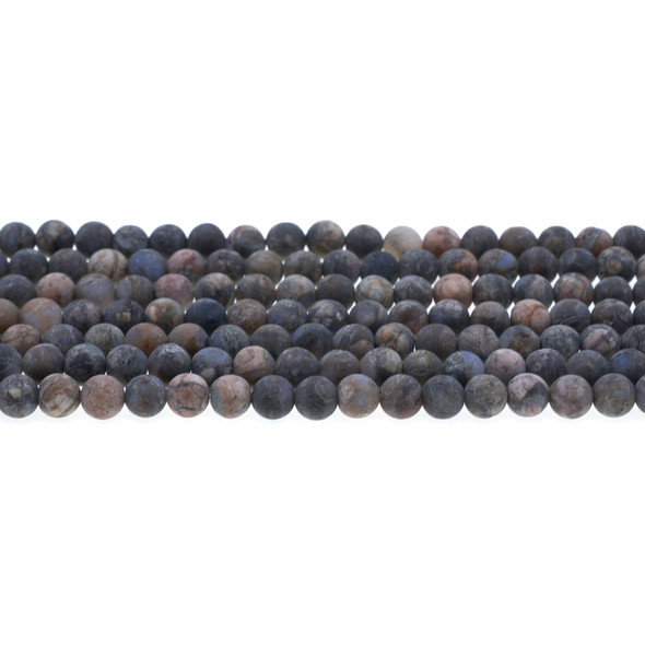 Llanite Round Frosted 6mm - Loose Beads