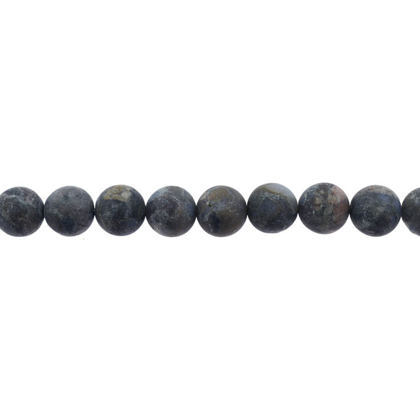 Llanite Round Frosted 10mm - Loose Beads