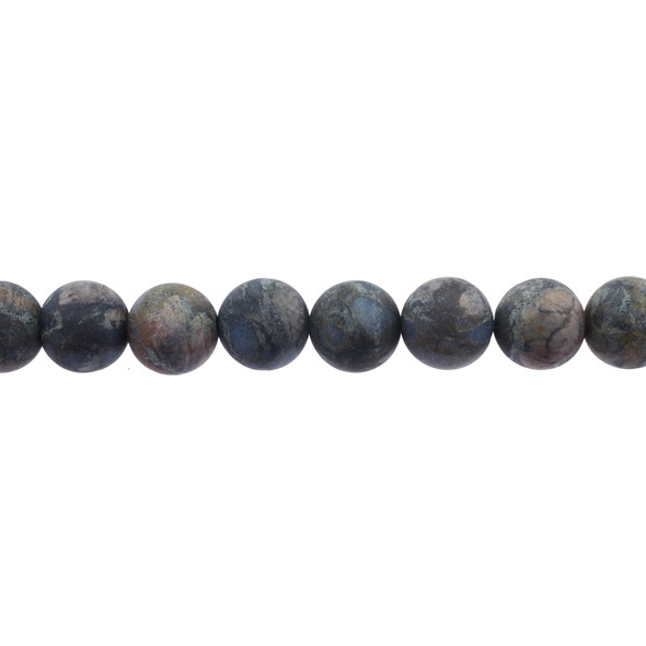 Llanite Round Frosted 12mm - Loose Beads