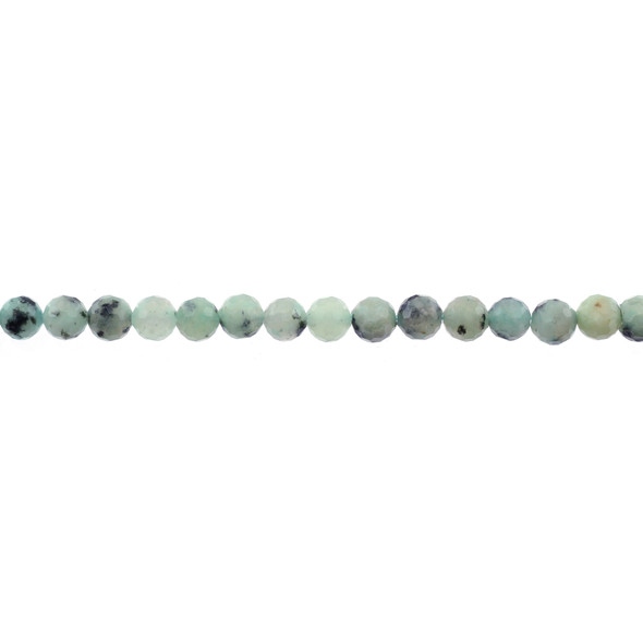 Lotus Jasper Round Faceted Diamond Cut 6mm - Loose Beads