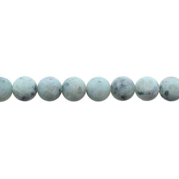 Lotus Jasper Round Frosted 10mm - Loose Beads