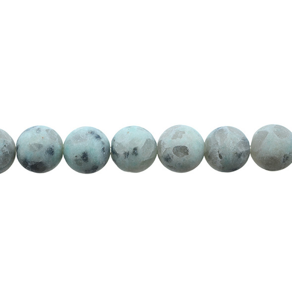 Lotus Jasper Round Frosted 12mm - Loose Beads