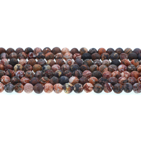 Leopard Skin Jasper Round Frosted 6mm - Loose Beads