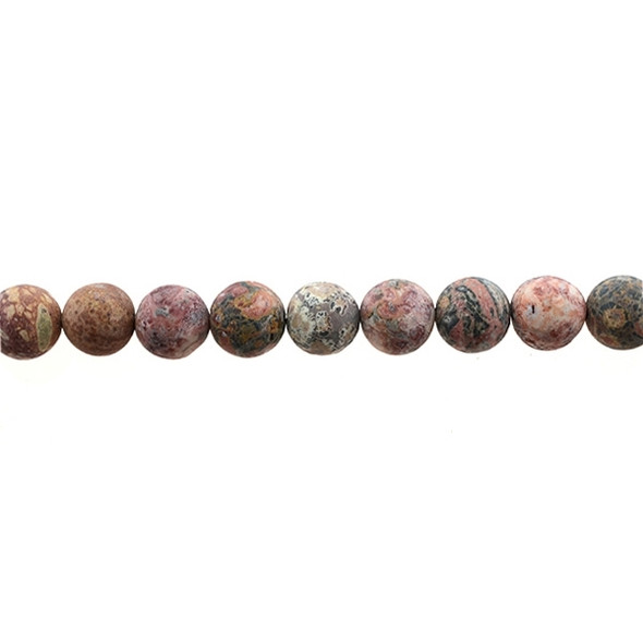 Leopard Skin Jasper Round Frosted 10mm - Loose Beads
