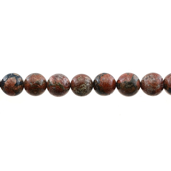 Leopard Skin Jasper Round 12mm - Loose Beads