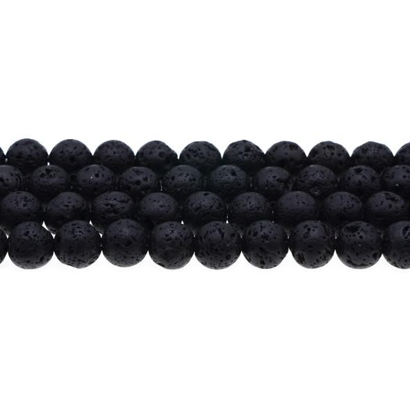 Black Lava Round 10mm - Loose Beads