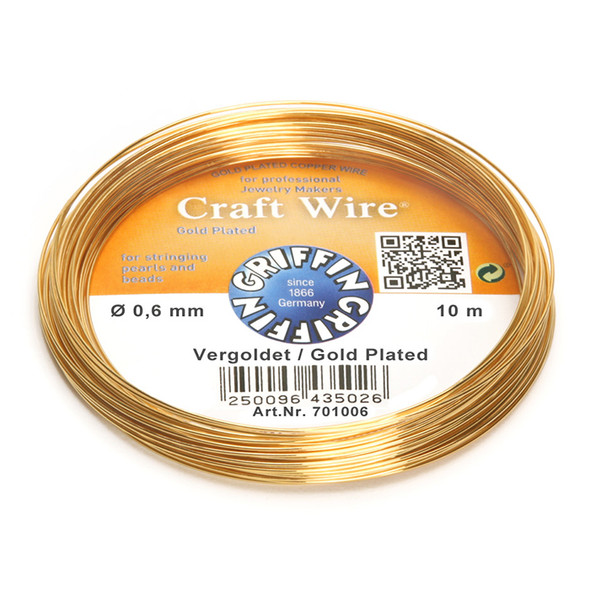 Craft Wire 24K gold plated 0,6mm; ring of 10m