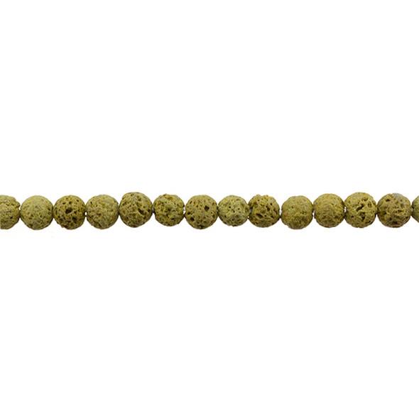 Yellow Lava Round 6mm - Loose Beads