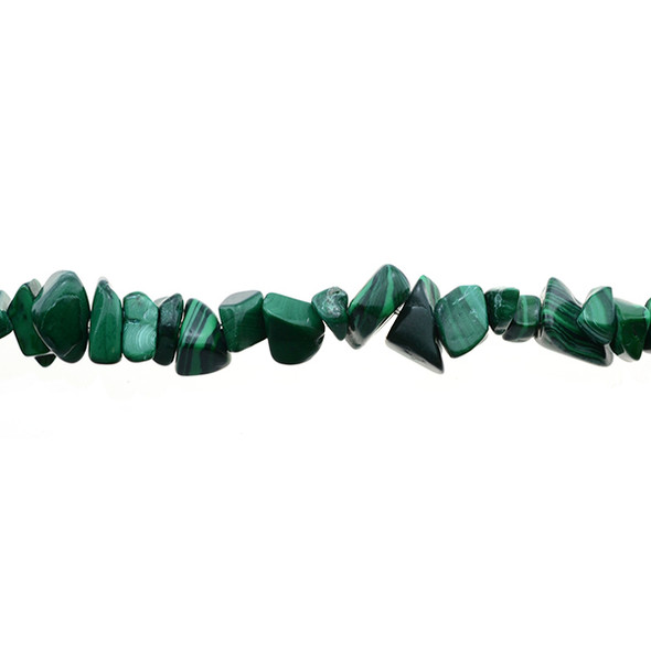 Malachite Chips 7mm x 7mm x 5mm - Loose Beads