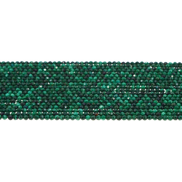 Malachite Round Faceted Diamond Cut 2mm - Loose Beads