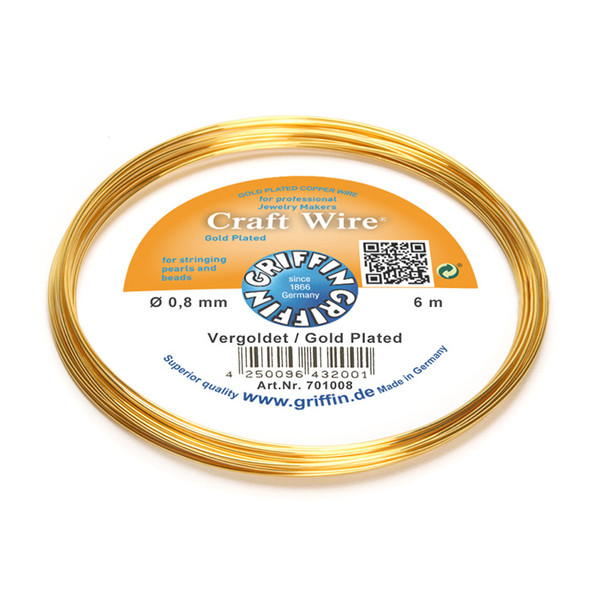 Craft Wire 24K gold plated 0,8mm; ring of 6m