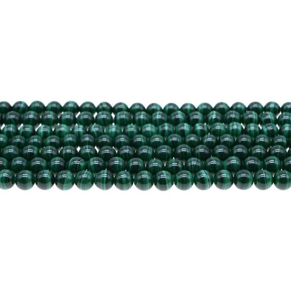 Malachite Round 6mm - Loose Beads