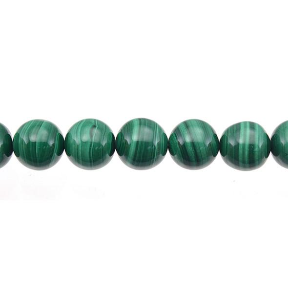 Malachite Round 14mm - Loose Beads