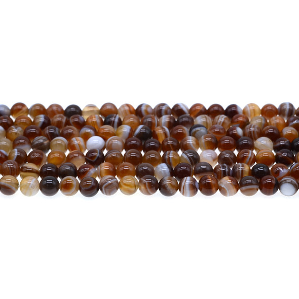 Brown Madagascar Agate Round 6mm - Loose Beads