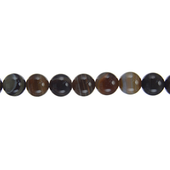 Brown Madagascar Agate Round 10mm - Loose Beads