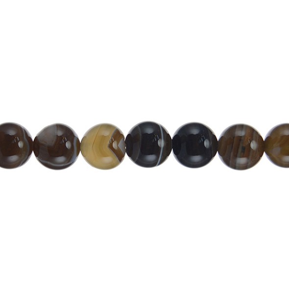 Brown Madagascar Agate Round 12mm - Loose Beads