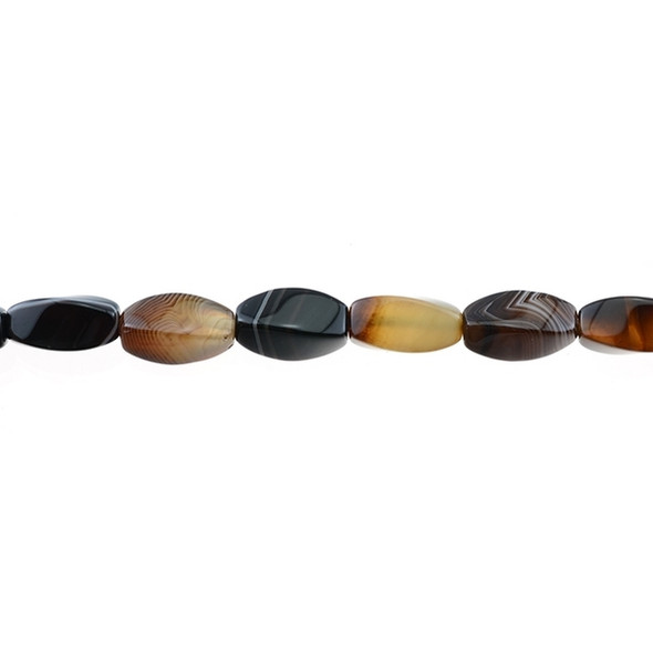 Brown Madagascar Agate Swirl 8mm x 8mm x 15mm - Loose Beads