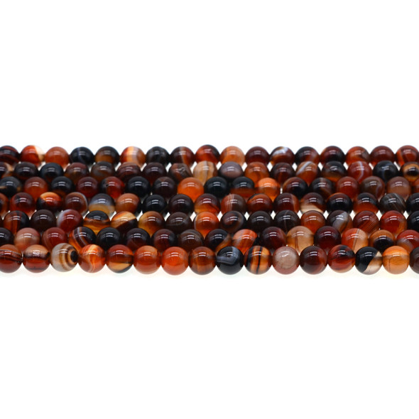Madagascar Agate Round 6mm - Loose Beads