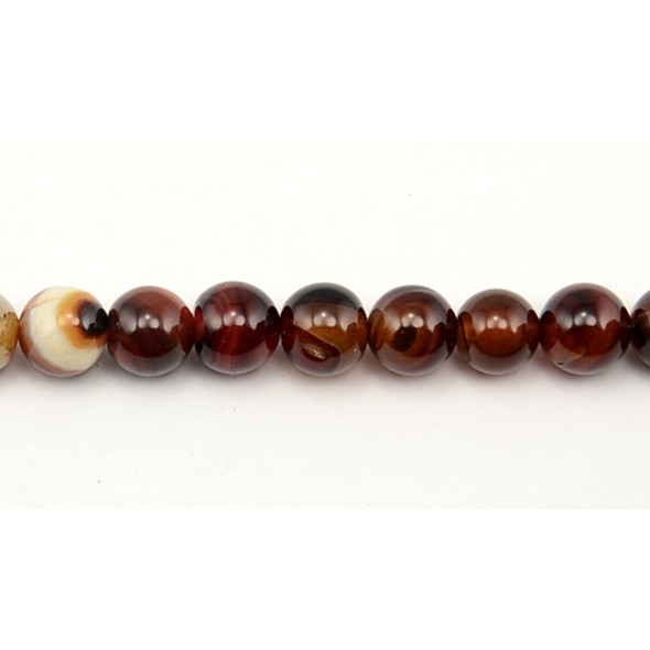 Madagascar Agate Round 10mm - Loose Beads