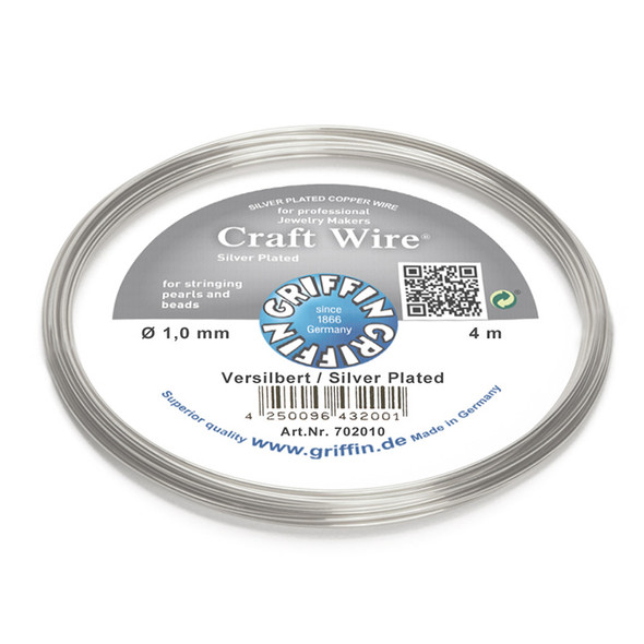 Craft Wire silver plated 1,0mm; ring of 4m