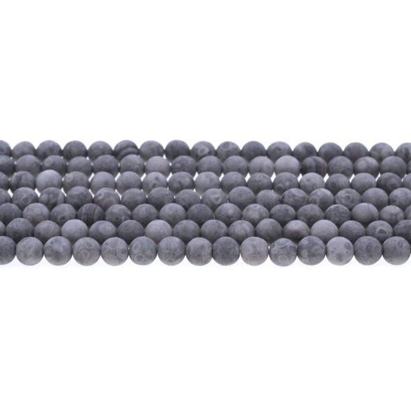 Maifanite Maifan Stone Round Frosted 6mm - Loose Beads