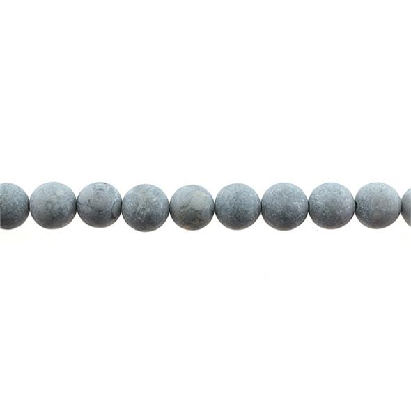 Maifanite Maifan Stone Round Frosted 10mm - Loose Beads