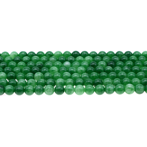 Multi-Colored Green Jade Round 6mm - Loose Beads