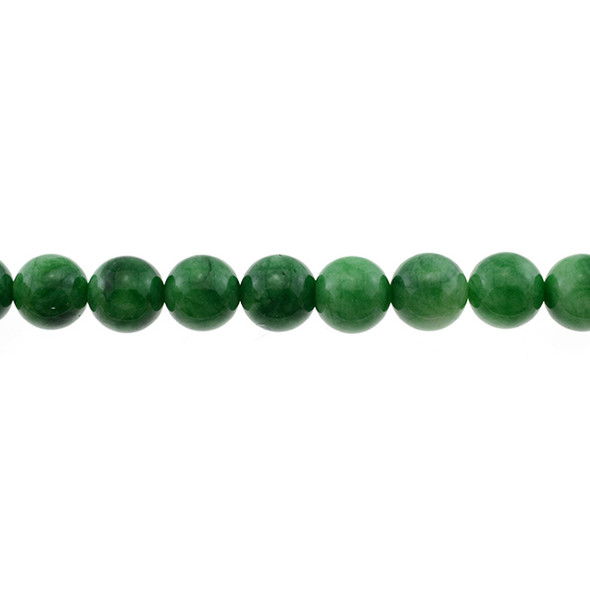 Multi-Colored Green Jade Round 12mm - Loose Beads