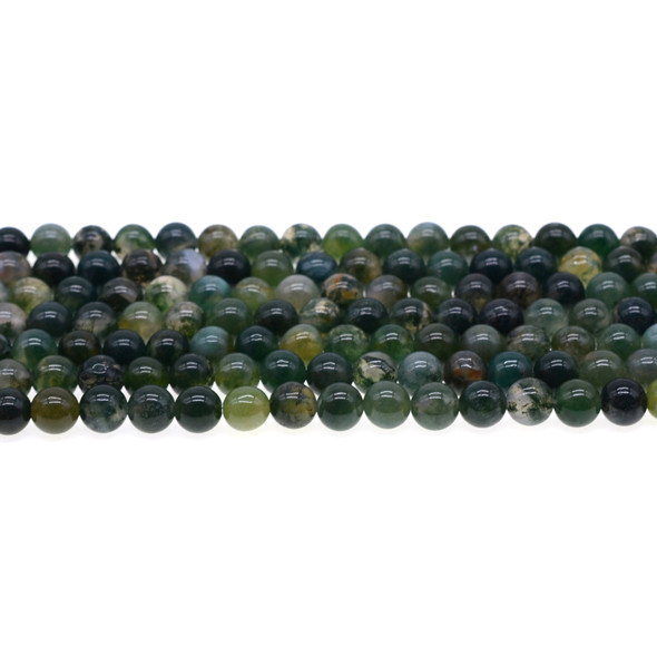 Moss Agate Round 6mm - Loose Beads