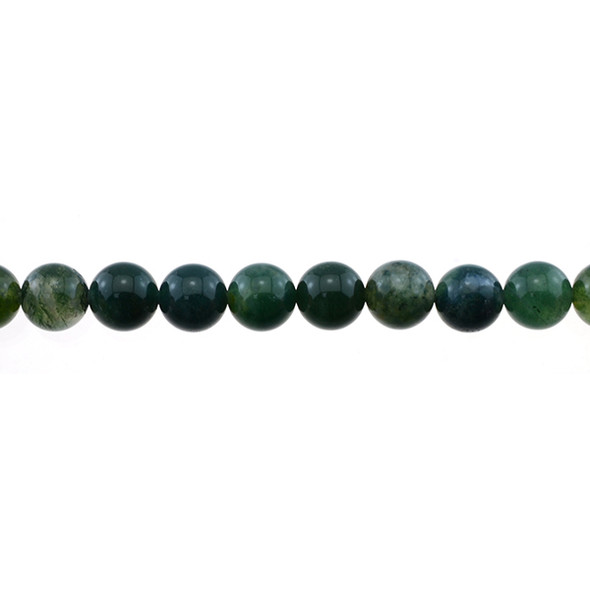 Moss Agate Round 10mm - Loose Beads