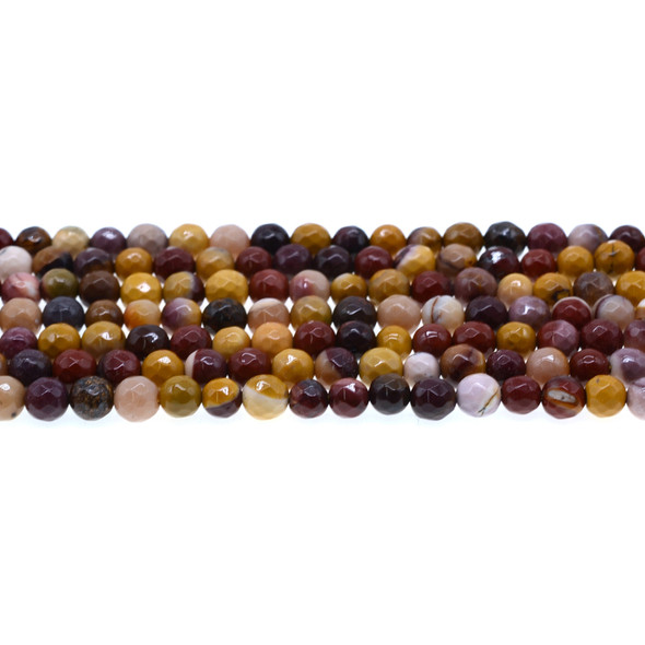 Mookaite Jasper Round Faceted 6mm - Loose Beads