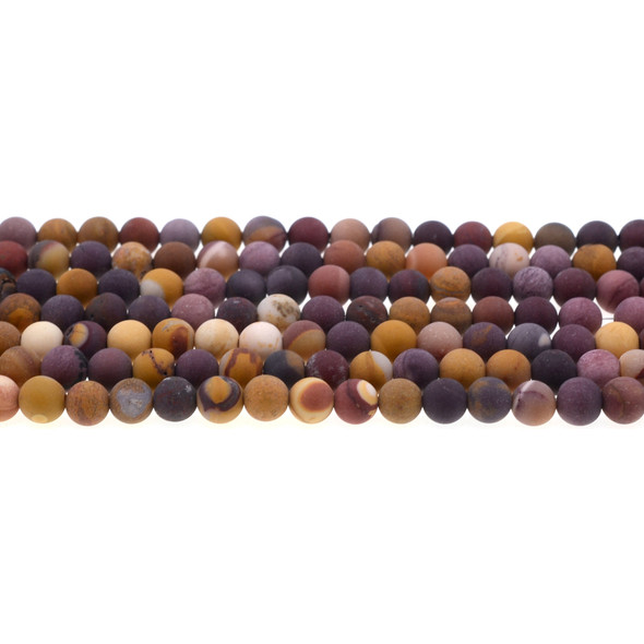 Mookaite Jasper Round Frosted 6mm - Loose Beads