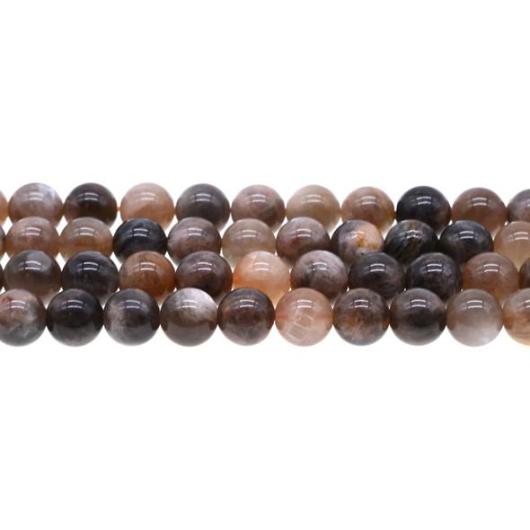 Black Multi-Color Moonstone AA Round 10mm - Loose Beads